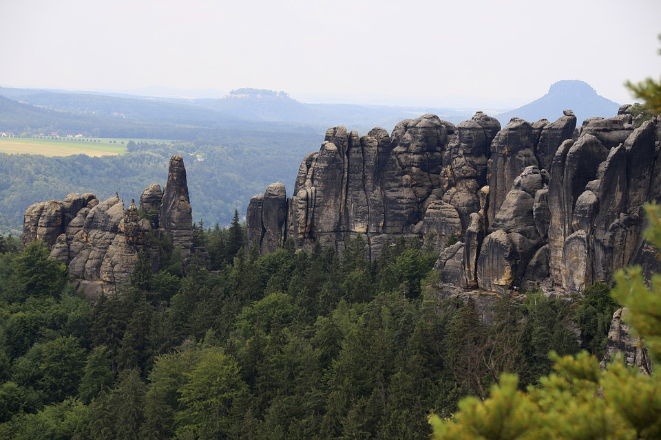 Rock, Saxon Switzerland, Saxony, Mountains, Climb