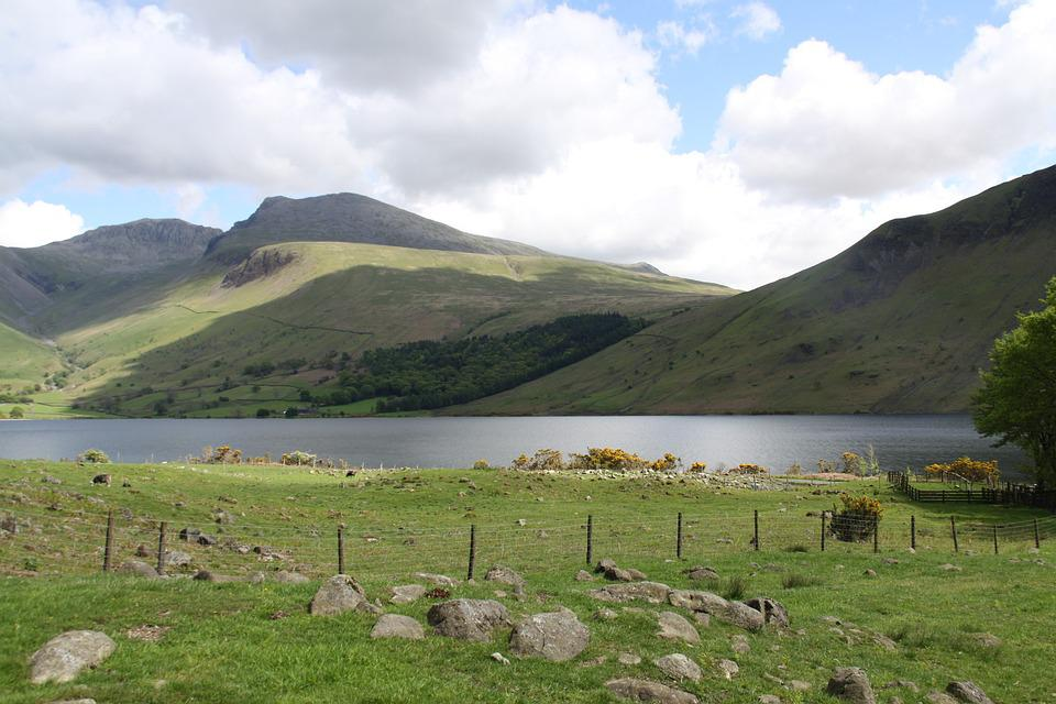Lake, Mountains, Landscape, Water, Wastwater, Scenery