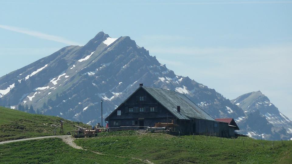 Allgäu, Mountains, Alpe, Meadow, Panorama, View, Sky