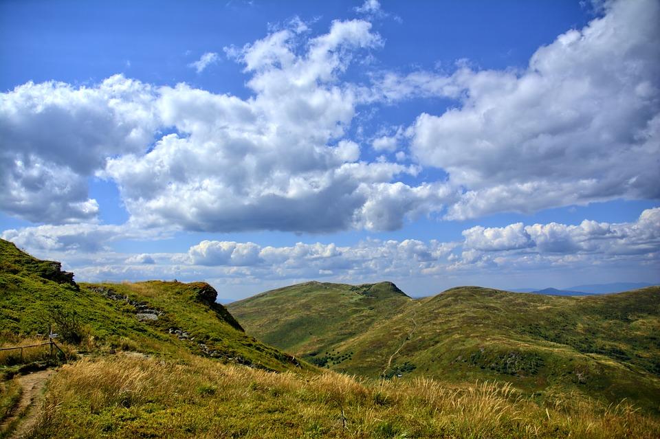 Bieszczady, Mountains, Sky, View, Landscape, Colors