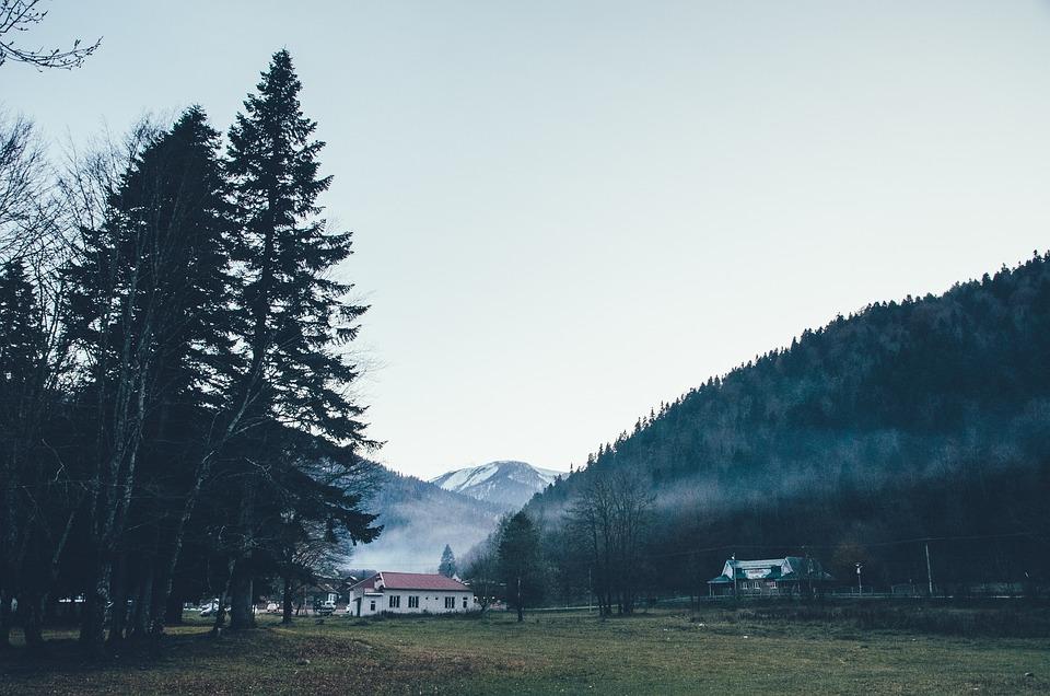 Mountains, Fog, Evening, Landscape, Sky, Mountain