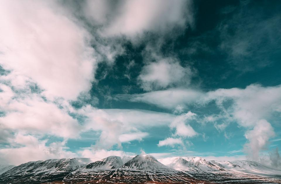 Mountains, Clouds, Sky, Landscape, Outdoors, Snowy