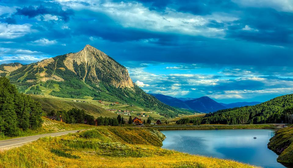 Merdian Lake, Mountains, Crested Butte, Tourism, Sky