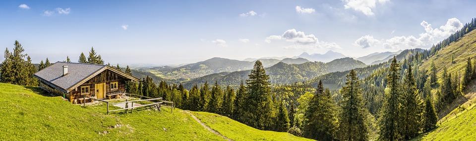 Alpine, Mountains, Mountain Hut, Landscape, Nature, Sky