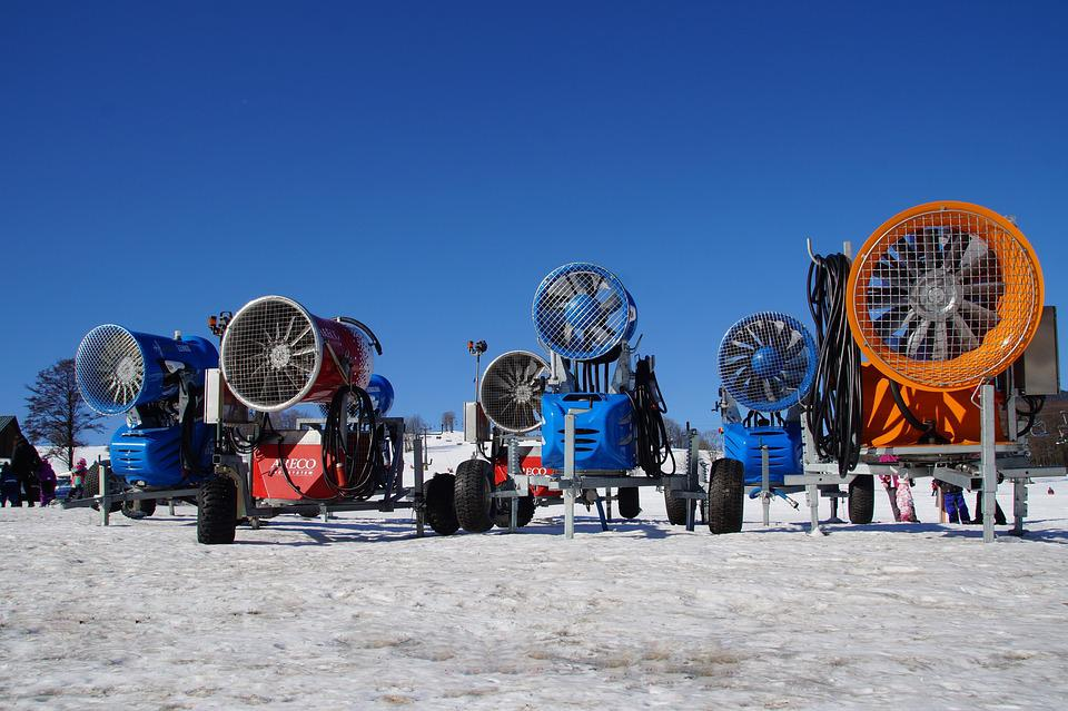 Snow Cannons, Snow Cannon, Winter, Mountains, Frost