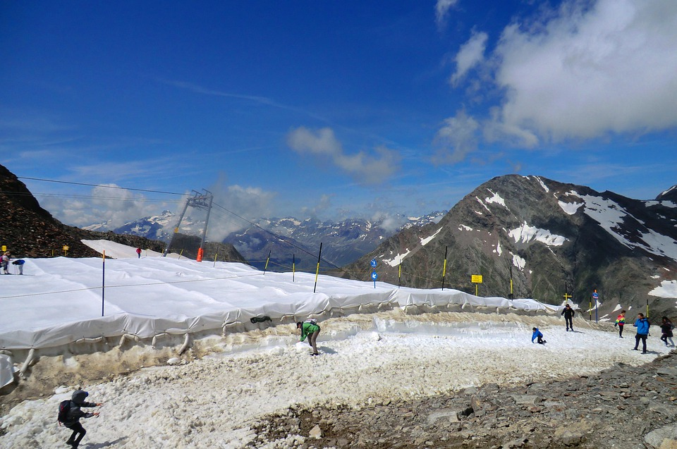 Stubai Glacier, Austria, Glacier, Snow, Mountains