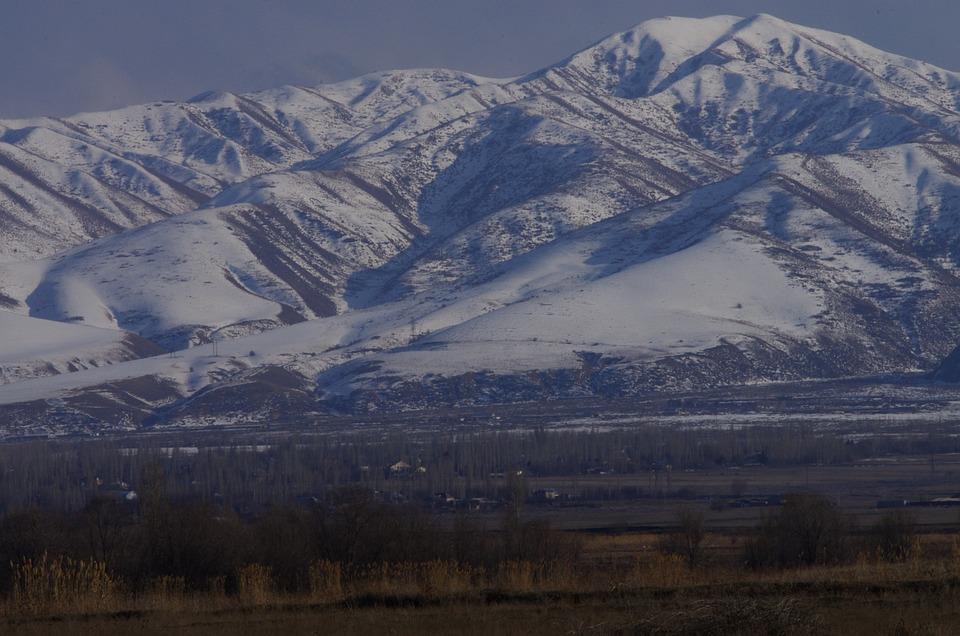 Mountains, Snow, Field, Mountain Range, Winter, Rural
