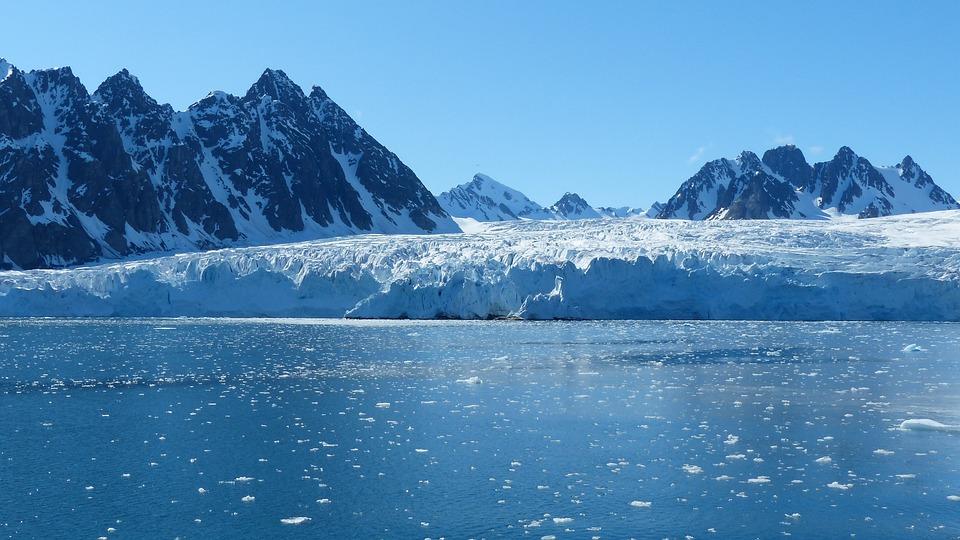 Spitsbergen, Glacier, Cold, Ice, Still, Mountains