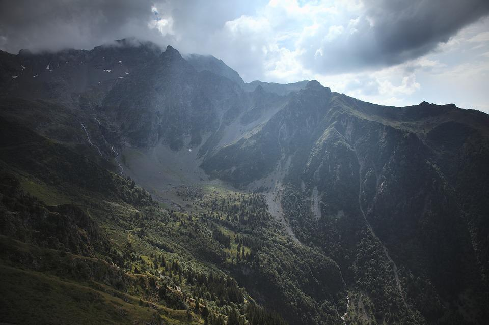 Mountains, Sunbeam, France, Alpine, Mountain Range