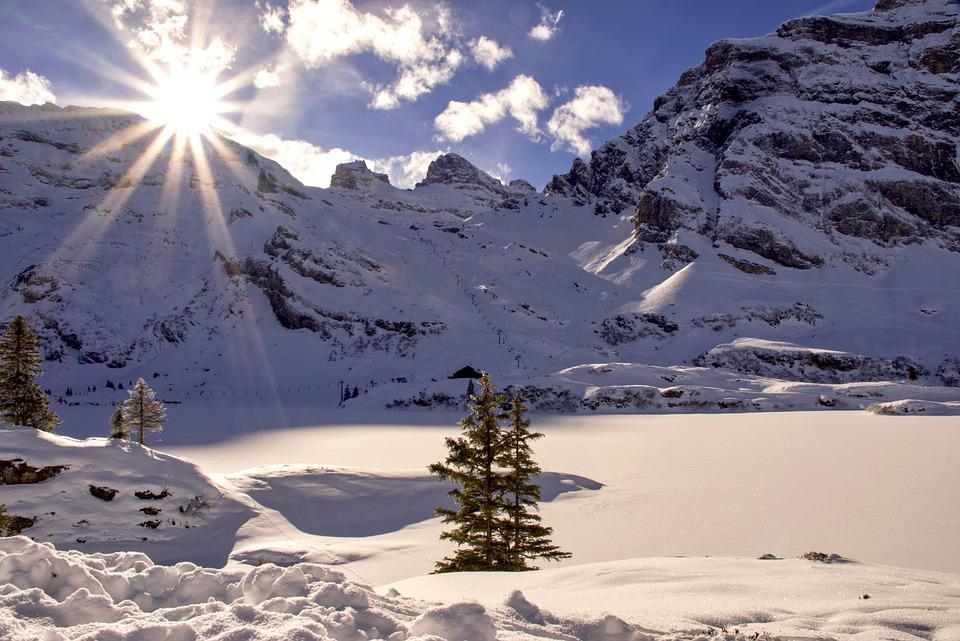 Sunlight, Snow, Mountains, Winter, Hoarfrost, Alps