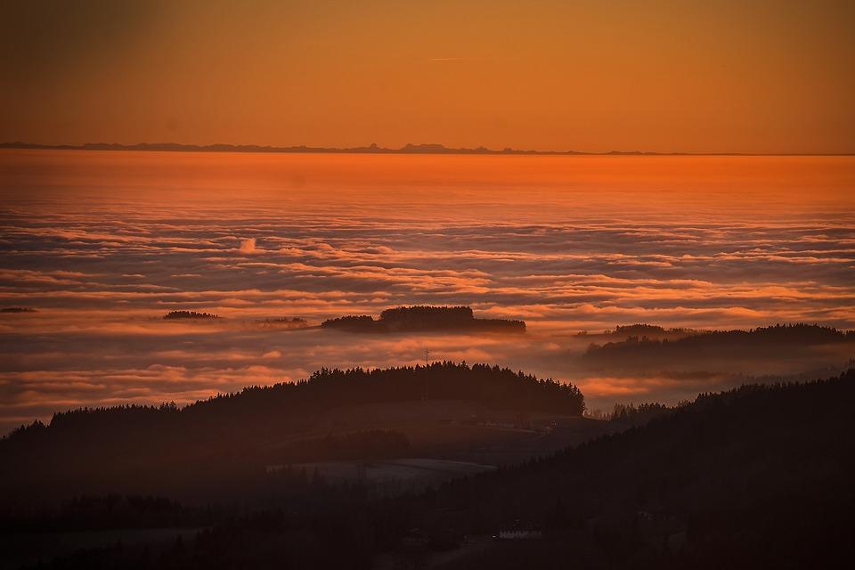 Sunset, Mood, Mountains