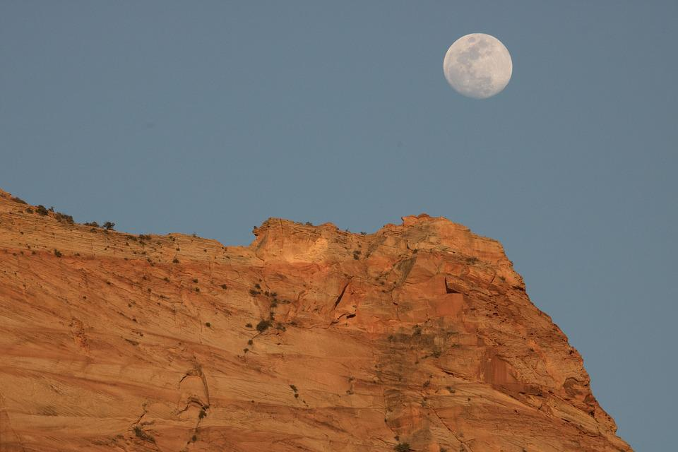 Mountains, Zion, Sunset, National Park, Sandstone