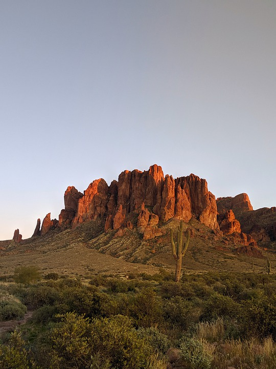 Superstition, Mountains, Landmark, Arizona, Desert