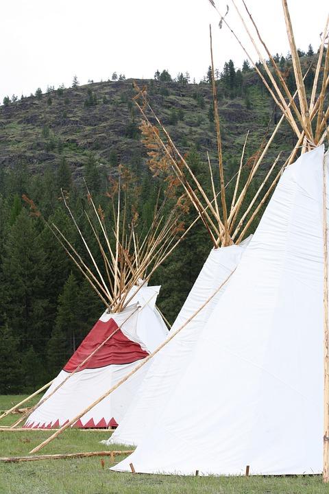 Tipi, Mountains, Powwow