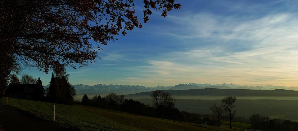 Nature, Landscape, Mountains, Tree, Sky, Autumn, Fog