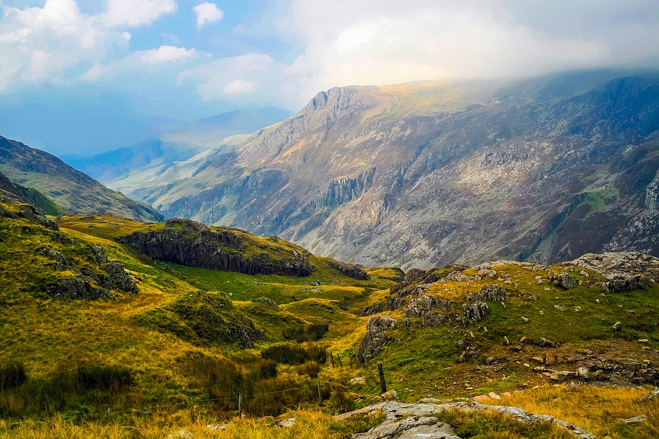 Wales, England, Uk, Great Britain, Mountains, Meadow