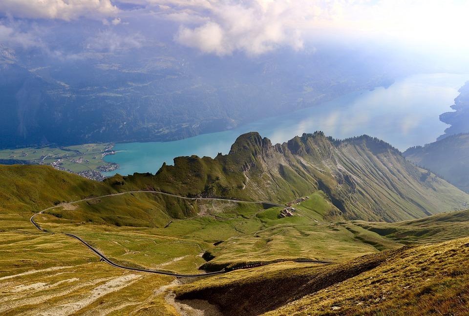 Mountains, Lake, Clouds, Mountain Lake, Valley, Peak