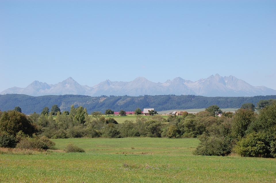 Mountain, Mountains, Clouds, Landscape, View, Blue, Top