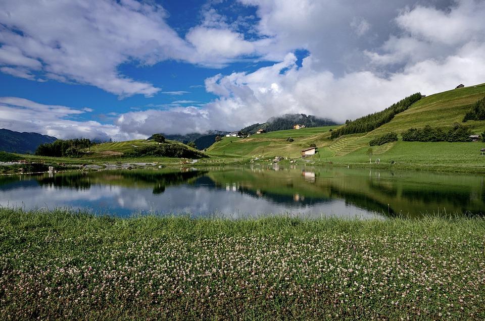 Water, Summer, Clouds, Austria, Mountains, Nature, Fiss