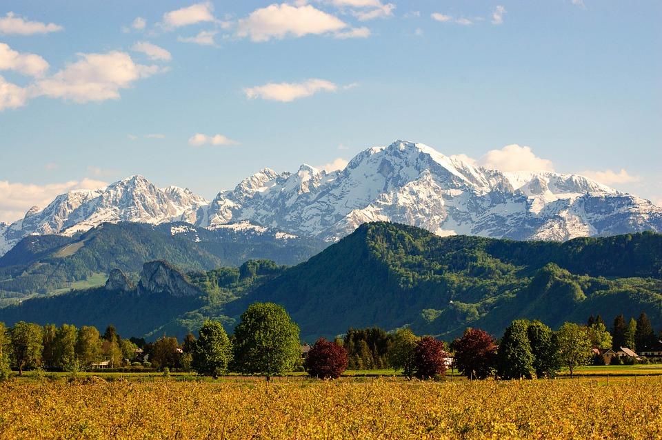 Landscape, Mountains, Watzmann, Alpine, Mood, Trees