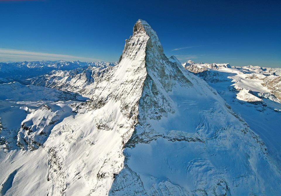 Matterhorn, Switzerland, Alpine, Mountains, Winter