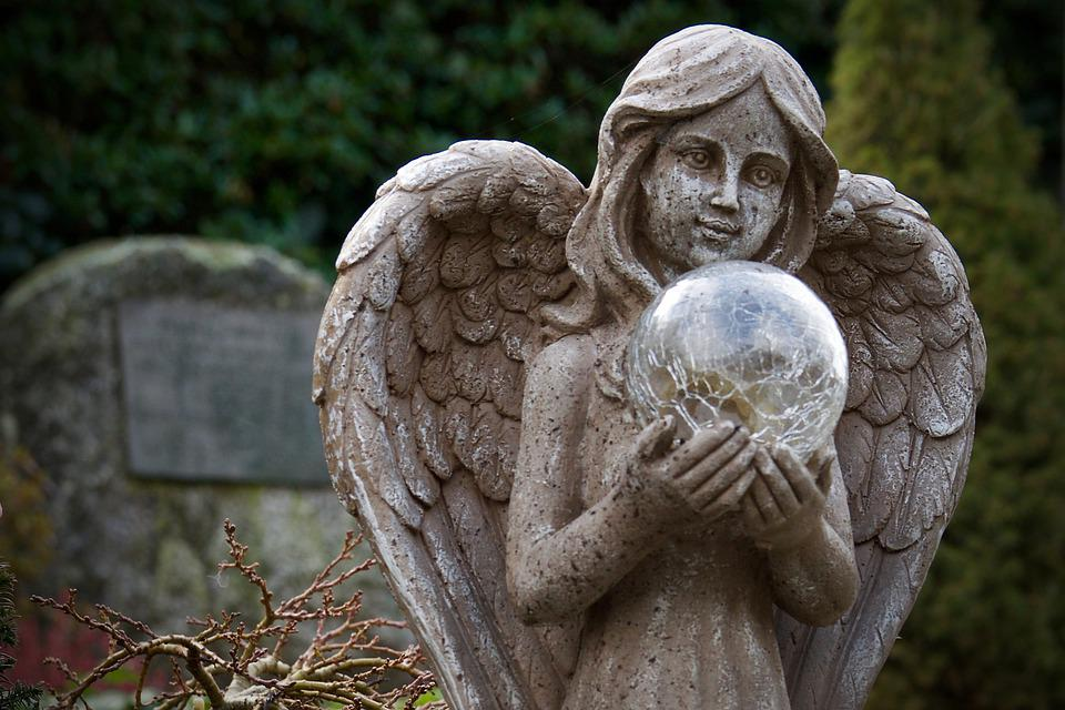 Angel, Stone Sculpture, Figure, Cemetery, Mourning