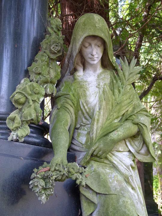 Mourning, Female Statue, Cemetery