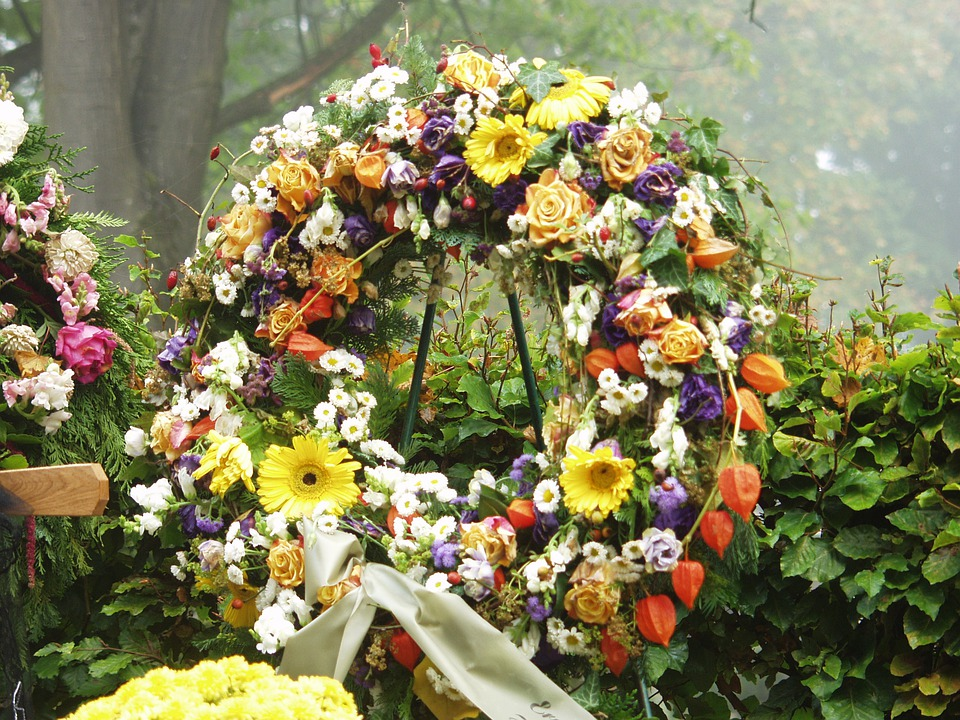 Grabschmuck, Wreath, Death, Funeral, Mourning, Cemetery