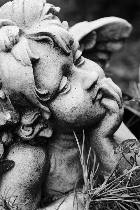 Angel, Commemorate, Needles, Cemetery, Memory, Mourning