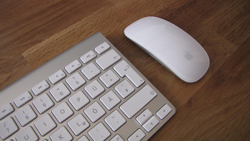 Keyboard, Mouse, Mac, Computer, Cordless, Office, Apple