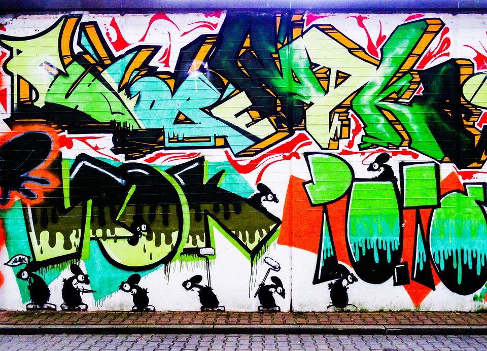 Graffiti, Letters, Font, Text, Mouse, Mice, Decoration