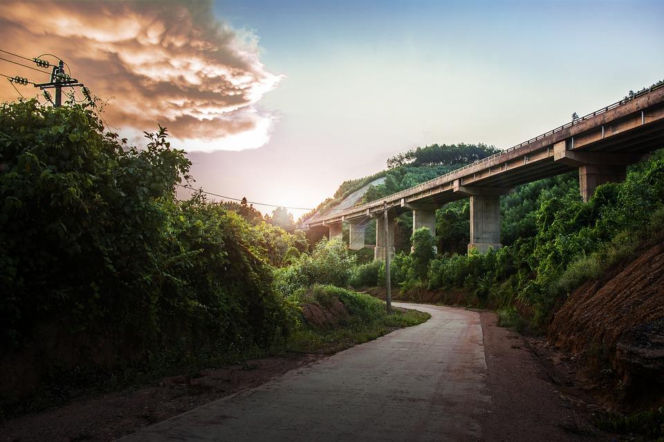 Nature, Construction, Bridge, Moutain
