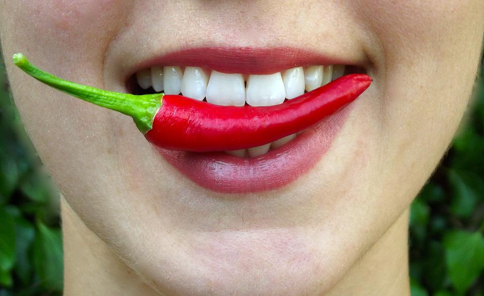 Chilli, Bite, Hot, Lips, Mouth, Eat, Spicy, Fresh