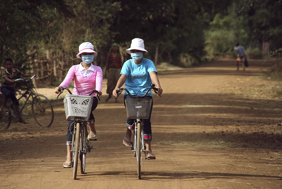 Cycling, Air Pollution, Mouth Guard, Bicycle Basket
