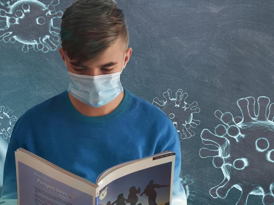 Students, Mouth Guard, Corona, Virus, Mask, School