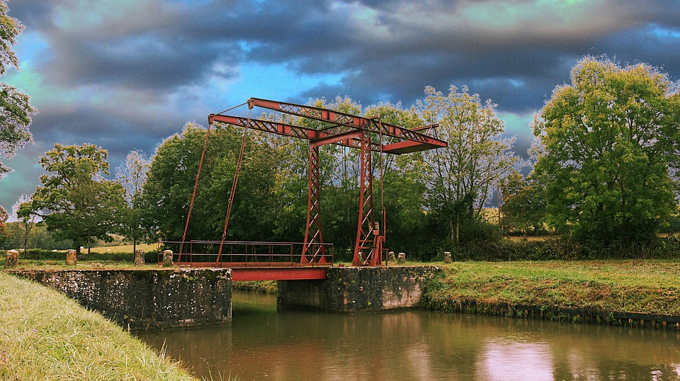 Drawbridge, Movable Bridge, The Nivernais Canal