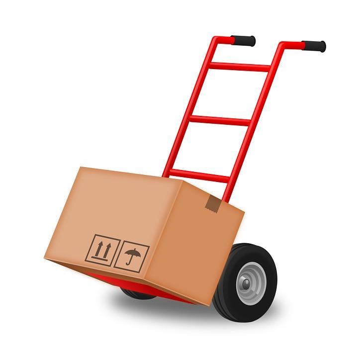 Hand Truck, Hand Trolley, Steekkar, Box, Move, Moving