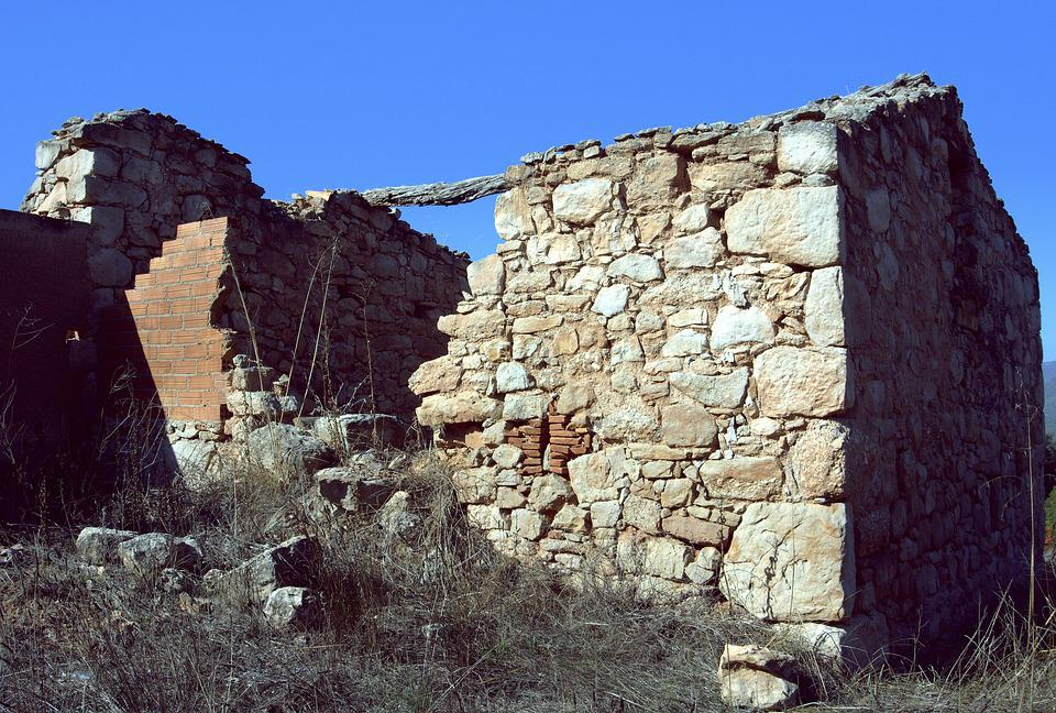 Earthquake, Collapse, Movement, Ruins, Stones, Walls
