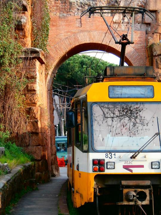 Train, Station, Ancient, Architecture, Rails, Movement