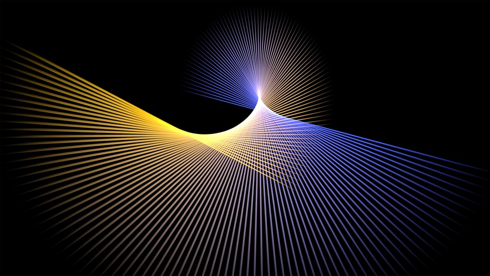 Star, Graphic, Rays, Movement, Pattern, Color, Mood