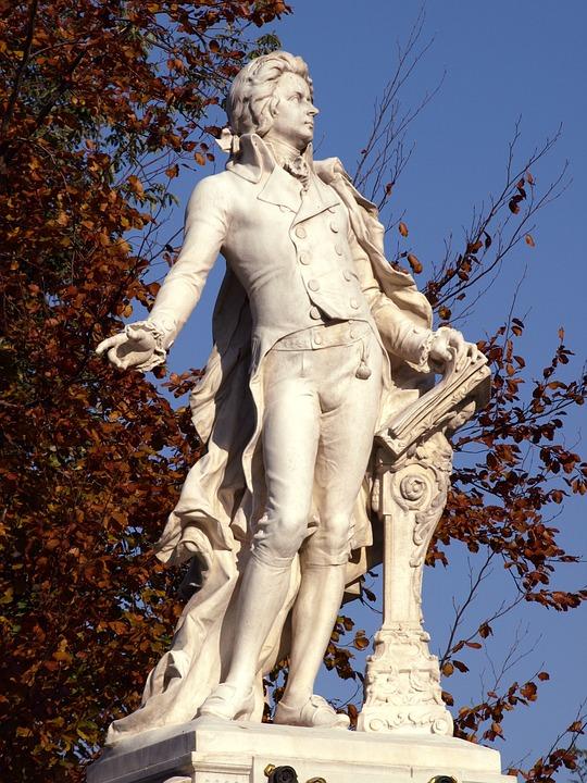 Vienna, Monument, Mozart, Statue, Sculpture