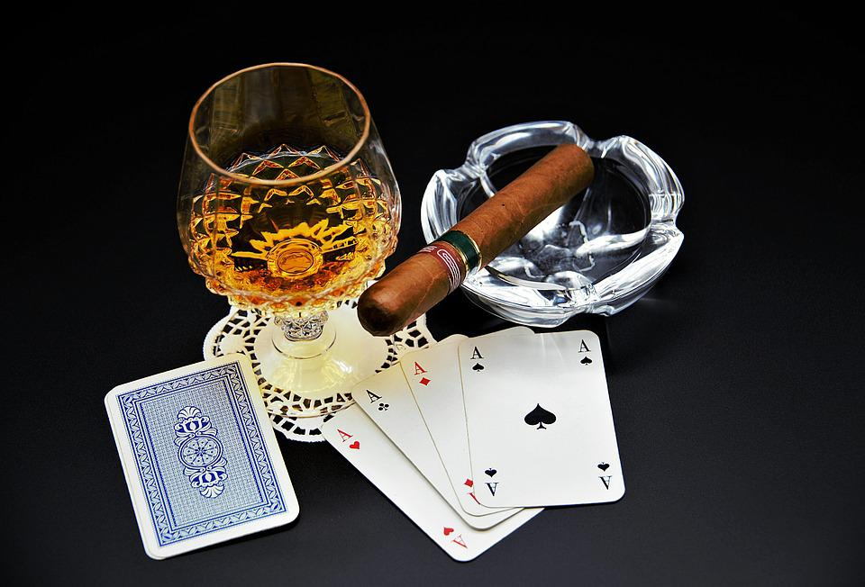 Playing Cards, Cognac, Cigar, Poker, Mr Evening, Aces