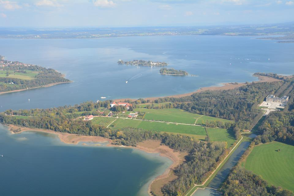 Island, Lake, Landscape, Castle, Chiemsee, Mr Island