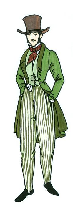 Fashion, Historically, 1830, Mr, Men's Fashion