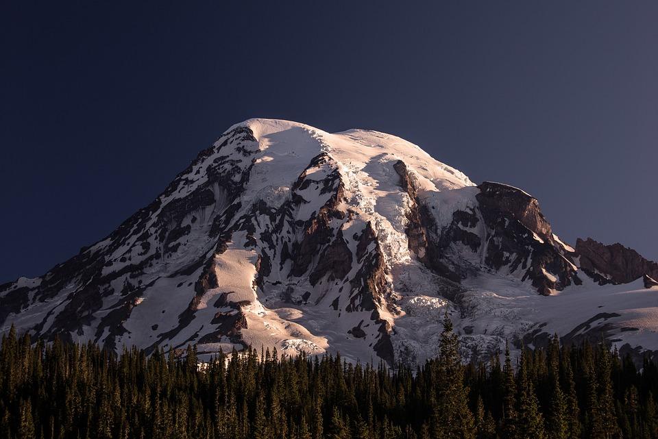 Mt Rainier, Mountain, Volcano, Washington