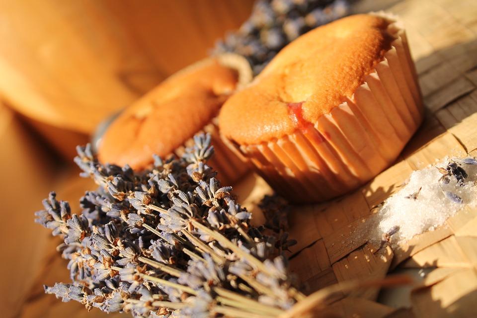 Lavender, Muffin, Cake