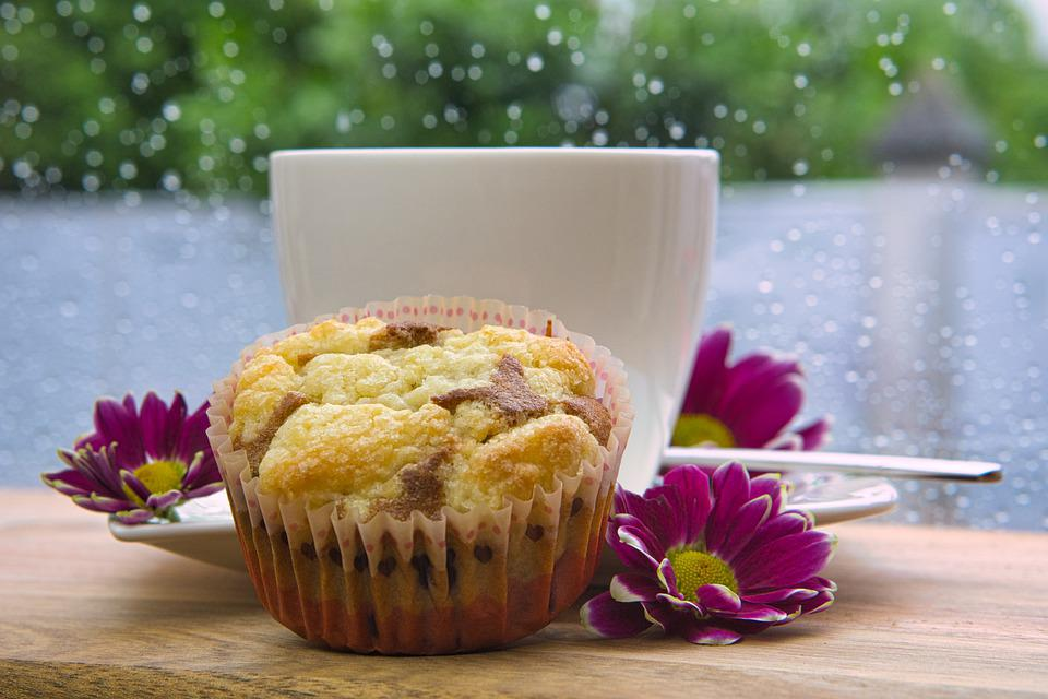Rain, Coffee, Muffin, Coffee Time, Rainy Day, Cup