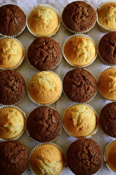 Muffins, Pastries, Baked, Bake, Cupcakes, Dessert, Food