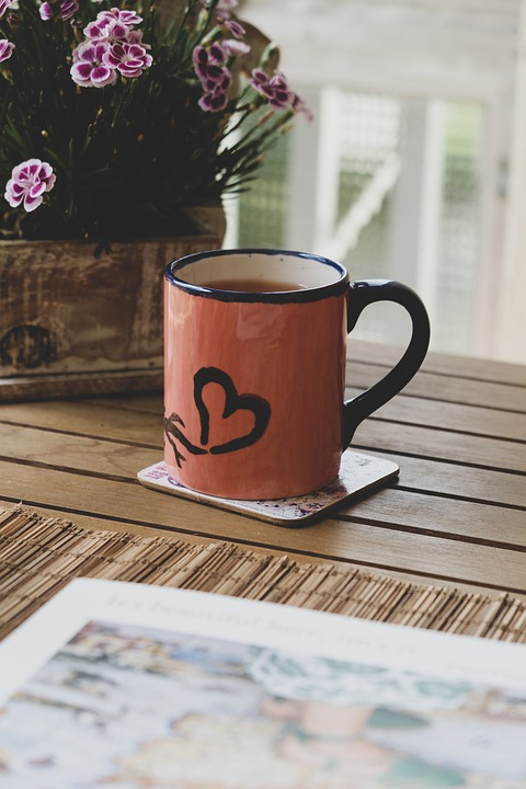 Heart, Mugs, Table, Stilllife, Mug, Love, Cafe, Tea