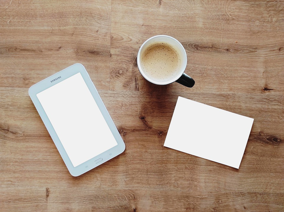 Coffee, Cup, Tablet, Card, Digital Tablet, Mug